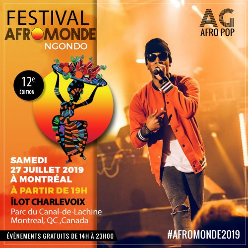 affiche de lartiste ag fro pop fly au festival afromonde a montreal